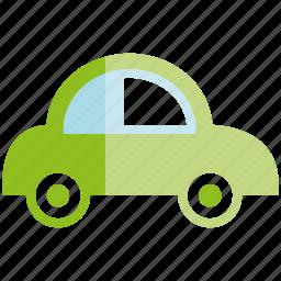 car, eco car, small car icon