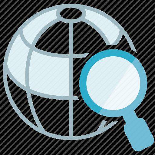 globe, search, world icon