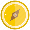 compass, direction, tool icon