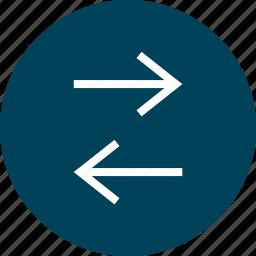 arrow, circle, data, left, right icon