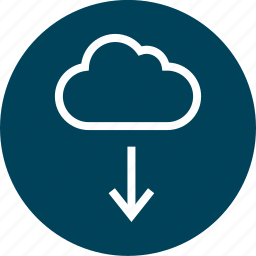 cloud, dowanlod, down, point icon