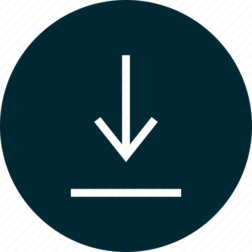 arrow, attachement, down, download, point icon