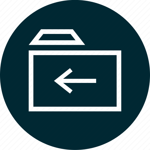 Arrow, back, folder, left icon - Download on Iconfinder