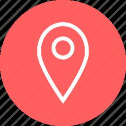 circle, gps, location, map icon
