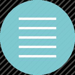 hamburger, lines, menu, options, setup icon