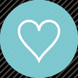 circle, favorite, hear, love icon