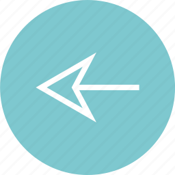arrow, circle, left, point icon