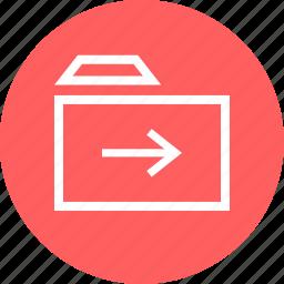 folder, next, point, right icon