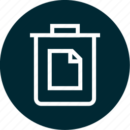 can, documents, paper, trash icon