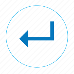 arrow, arrow enter, arrow left, awesome enter, enter, previous, round enter icon