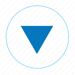 arrow, arrow bottom, arrow down, down, menu down, navigation, navigation down icon