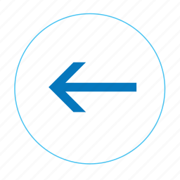 arrow, arrow left, back, backward, left, navigation left, previous icon