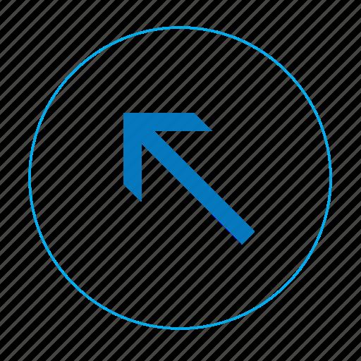 arrow, arrow left top, arrows, navigation arrow icon