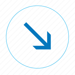arrow, arrow right bottom, arrows, navigation arrow icon