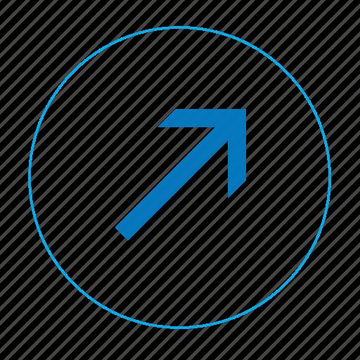 arrow, arrow top right, arrows, navigation arrow icon