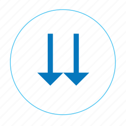 arrow, arrow down, down, go down, navigation bottom, navigation down, two arrow down icon