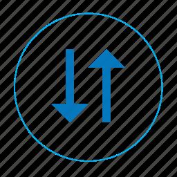 arrow, arrow down up, arrow up down, navigation up down icon