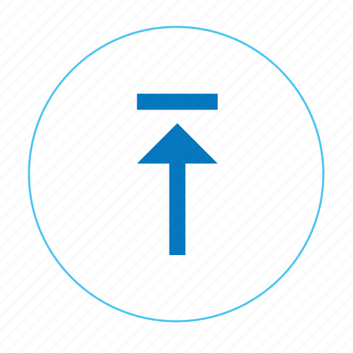arrow, arrow up, navigation, navigation up, round arrow, up, upload icon