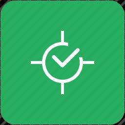accept, aim, confirm, green, ok, target icon