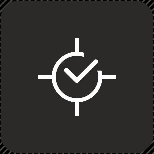 accept, aim, confirm, ok, target icon