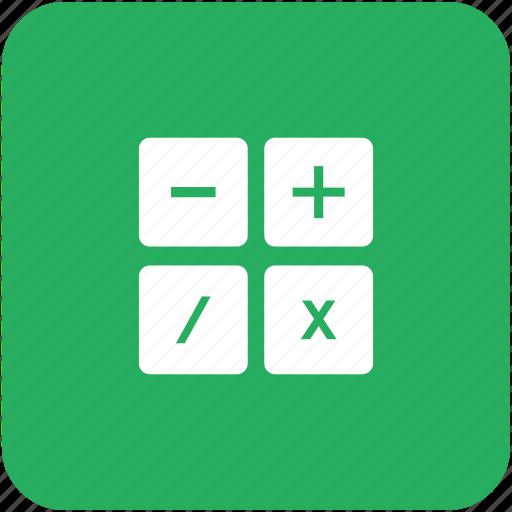 calc, calculator, count, math icon