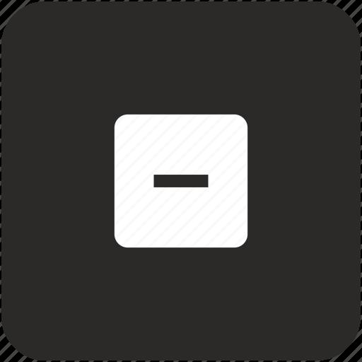 calculator, math, minus icon