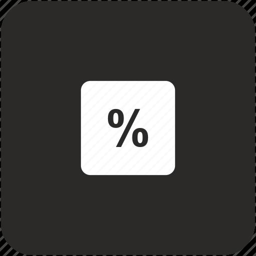 calc, calculator, math, percent icon