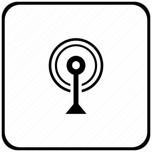 antenna, function, key, radio, signal icon