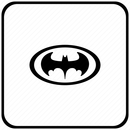 bat, batman, function, hero, key, oval icon