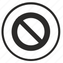 ban, cancel, close, function, lock, stop, tool icon