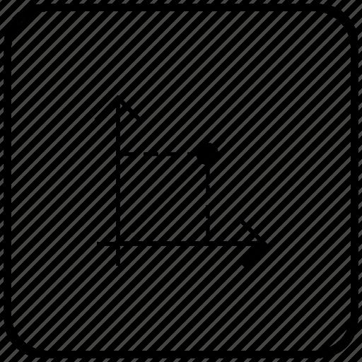 chart, economics, function, key, math icon