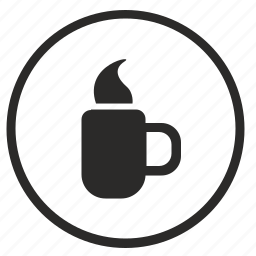 coffee, cup, drink, pause, tea, time icon