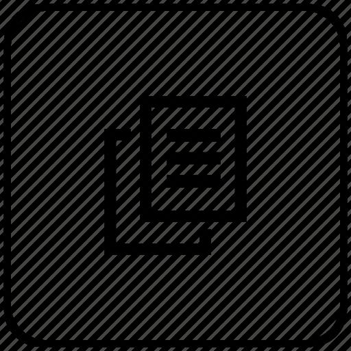 copy, file, function, key, printer, xerox icon