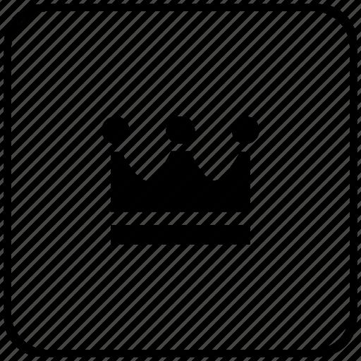 crown, function, key, king, royal icon