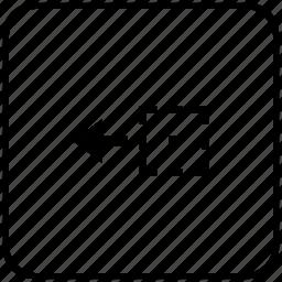 area, drag, drop, function, key, object, side icon