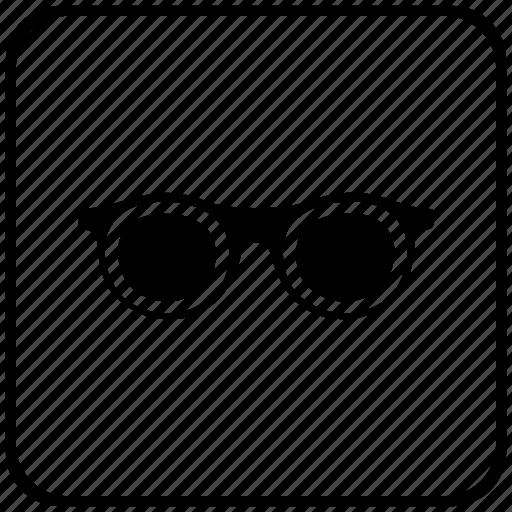 eye, female, function, glasses, key, woman icon