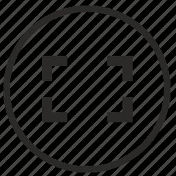 border, camera, frame, photo, view icon