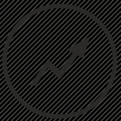arrow, function, grow, maximum, report icon