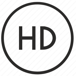 definition, hd, high, picture, quality, round, ui icon
