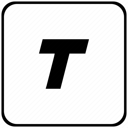 border, format, italic, rounded, square, text icon