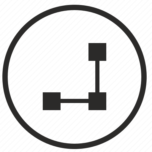 dot, geometry, line, program, tool icon