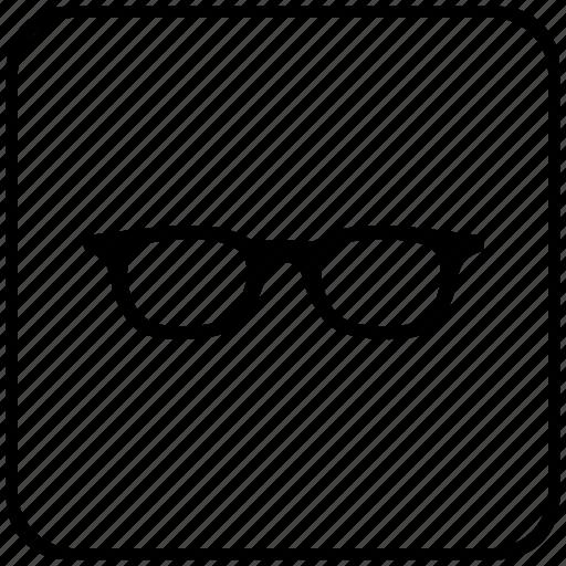 eye, function, glasses, key, man icon