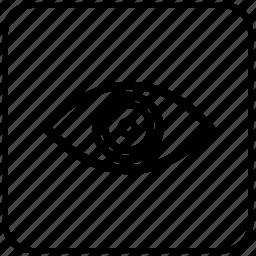 eye, function, key, man, vision icon