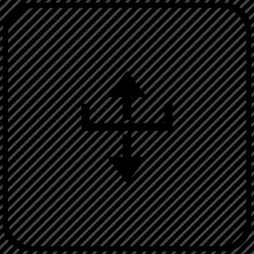 border, function, key, margin, measure icon
