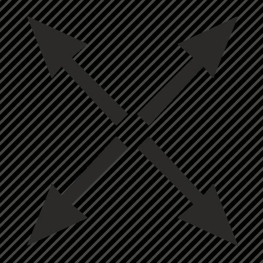 arrows, full, maximize, maximum, size, window icon
