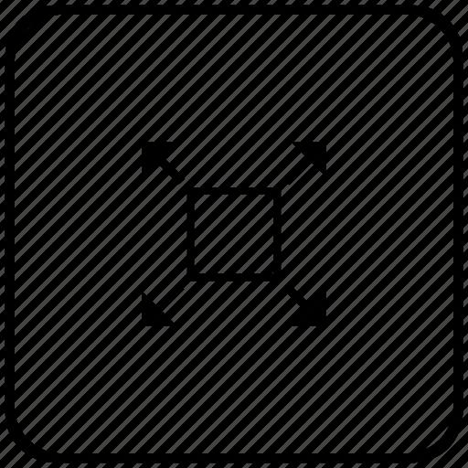 full, function, key, maximum, size, window icon
