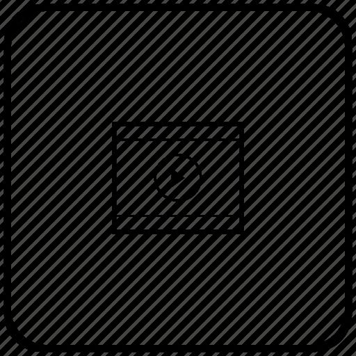 cinema, film, function, key, movie, video icon