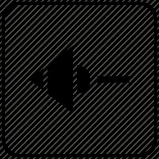 function, key, less, minus, music, mute, sound icon