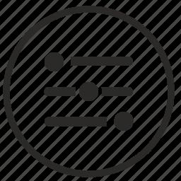 configuration, levels, option, round, settings, ui icon