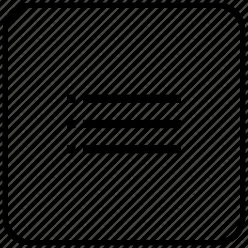 function, key, list, listing, order icon